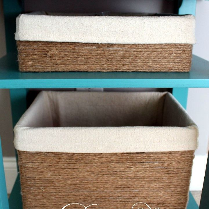 s 15 brilliant ways to reuse your empty cardboard boxes, home decor, repurposing upcycling, Make Rope Wrapped Storage