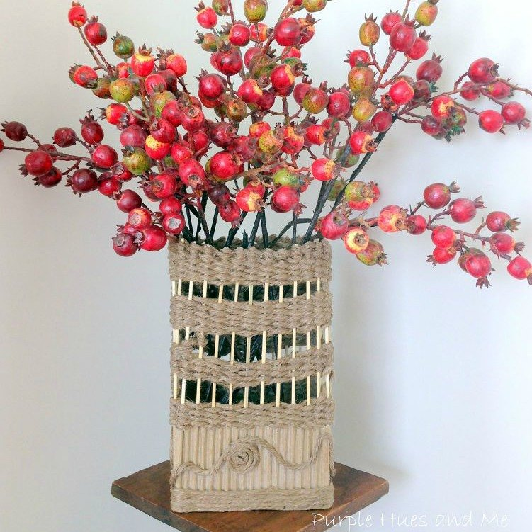wrap it in jute make a vase - Reuse Repurpose