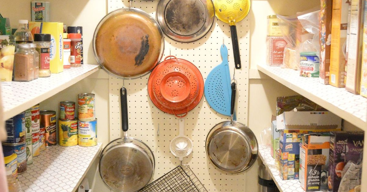 Kitchen Pantry Diy Projects: A Pegboard And A Pantry