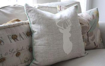 rustic painted pillows diy, crafts, reupholster