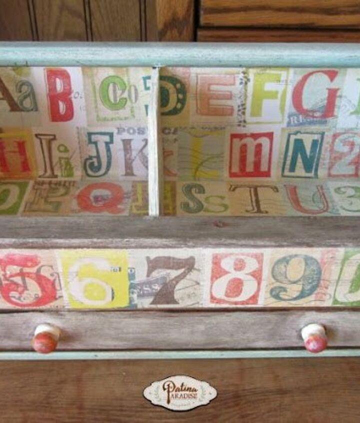 cd holder turned desk organizer, decoupage, organizing, painted furniture