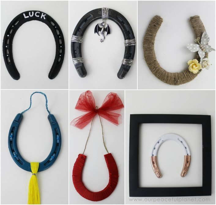 Lucky horseshoes decor real foam board hometalk for Bulk horseshoes for crafts