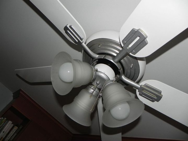 update an old ceiling fan with spray paint, diy, painting, wall decor
