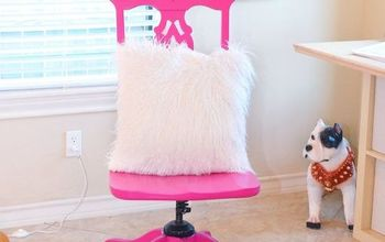 Sassy Hot Pink Office Chair Makeover
