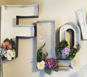 Metal Channel Letters Into Dining Room Art, Flowers, Wall Decor
