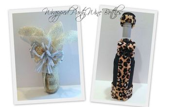 Wrapped Party Wine Bottles