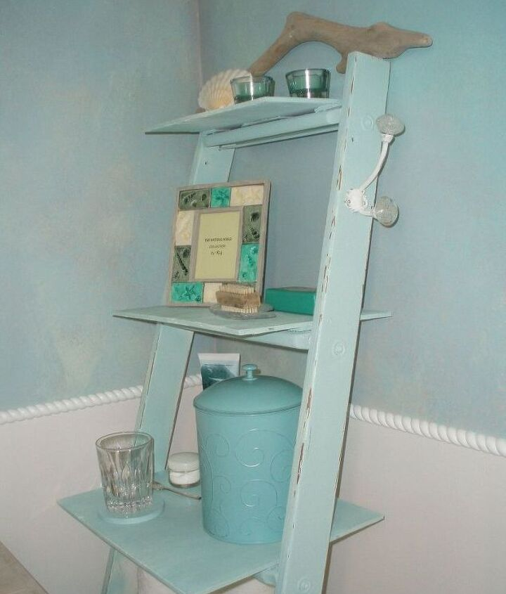 Top coated with Valspar flat color radiance spray #86007 Image (similar to duck-egg blue)