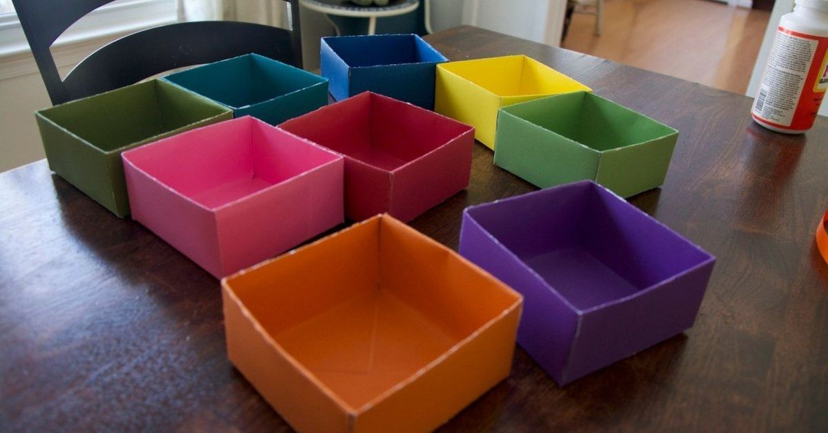 How To Make A Drawer Organizer From Scrapbook Paper Hometalk
