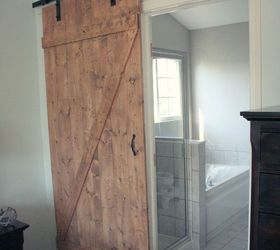 Beautiful Diy Distressed Sliding Barn Door, Bathroom Ideas, Diy, Doors, Woodworking  Projects