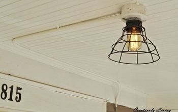 replace your light fixture for under 20 with no wiring, lighting, outdoor living