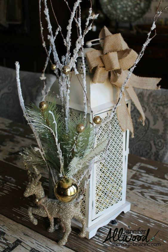 Christmas Lantern Decorate It For Winter Crafts Repurposing Upcycling Seasonal Holiday Decor