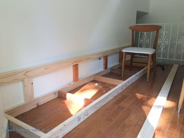 built in banquette tutorial, diy, how to, reupholster, wall decor, woodworking projects