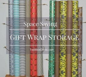 Space Saving Gift Wrap Storage, Cleaning Tips, Craft Rooms, Diy, Organizing,
