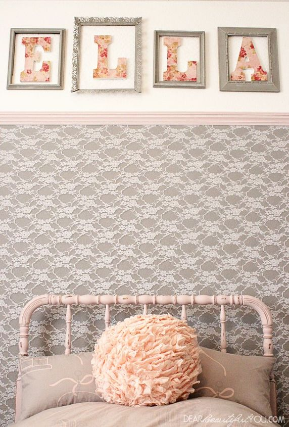 Lace Framed Accent Wall