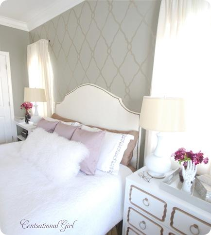 Trellis Stenciled Accent Wall