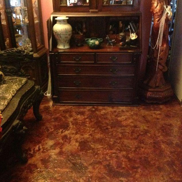 My Burgundy Brown Paper Bag Floor Diy Flooring Repurposing Upcycling