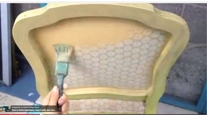 how to glitter upholstered furniture with our cracking or chipping, decoupage, how to, painted furniture, reupholster