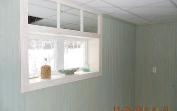 transom window mirror trick, how to, window treatments, windows