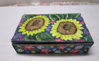 painting and re purposing that plain tea box, crafts, repurposing upcycling