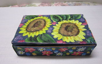 Painting and Re-purposing That Plain Tea Box