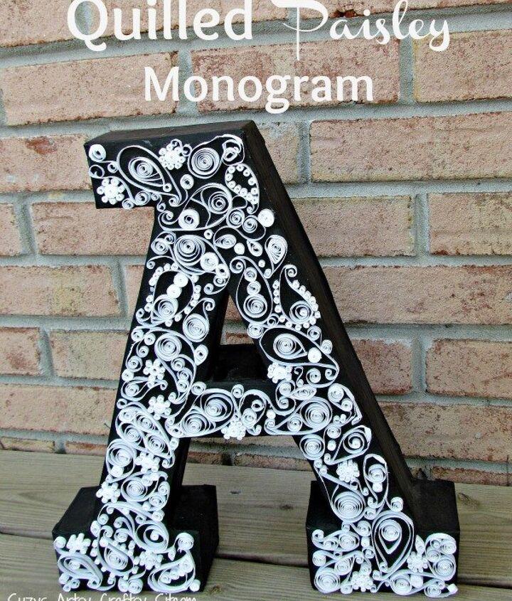 Easy Diy Paisley Quilled Monogram Hometalk