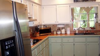 q refacing mica kitchen cabinets, cosmetic changes, home improvement, kitchen cabinets