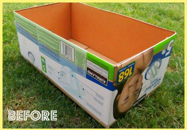 diaper box to storage box, organizing, repurposing upcycling, storage ideas