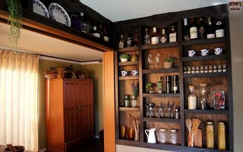Built-in Kitchen Wall Shelves!