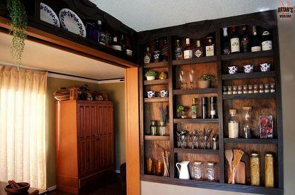 Built In Kitchen Wall Shelves Closet Diy Design Painting Shelving