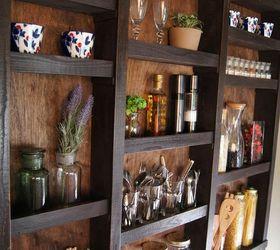 Built In Kitchen Wall Shelves, Closet, Diy, Kitchen Design, Painting,  Shelving