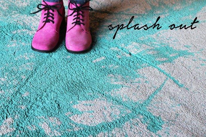 splash out painted carpet diy, chalk paint, crafts, reupholster