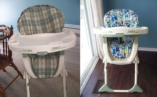 high chair cover tutorial, how to, reupholster