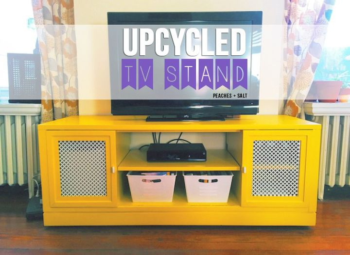 upcycled tv stand, painted furniture