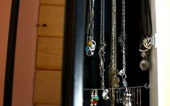 Build a Hidden Jewelry Cabinet Out of a Mirror!