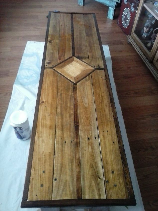Superb 1 Pallet 1 4X4 Post Coffee Table Hometalk Uwap Interior Chair Design Uwaporg