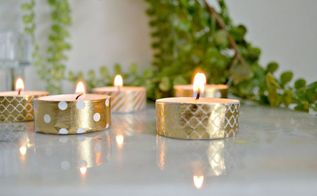 washi tape and tealight candles, crafts