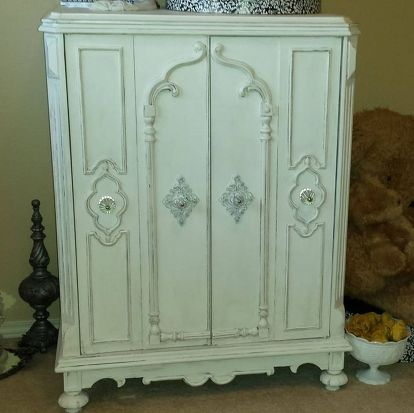 1930 S Vintage Radio Cabinet Redo Painted Chalk Paint Furniture