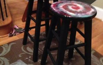 """A """"Tie-Dye for"""" Set of Barstools!"""