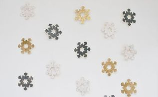 home decor with kids wooden snowflake wall hanging, crafts, wall decor