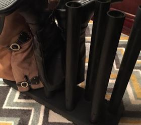 boot storage diy pvc pipes organizing storage ideas woodworking projects