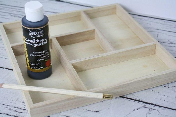 chalkboard kitchen drawer tray, chalkboard paint, crafts, kitchen design, organizing