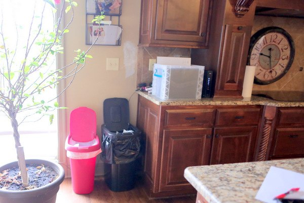 DIY Pull Out Trash And Recyling Bin | Hometalk Kitchen Garbage Storage Ideas Html on paper storage ideas, kitchen garbage furniture, rice storage ideas, kitchen garbage cabinets, kitchen island with built in recycling,