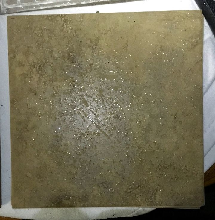 q need repurpose inspiration, repurpose building materials, repurposing upcycling, 6 Six of these earth tone tiles about 1 5 sq ft each Heavy