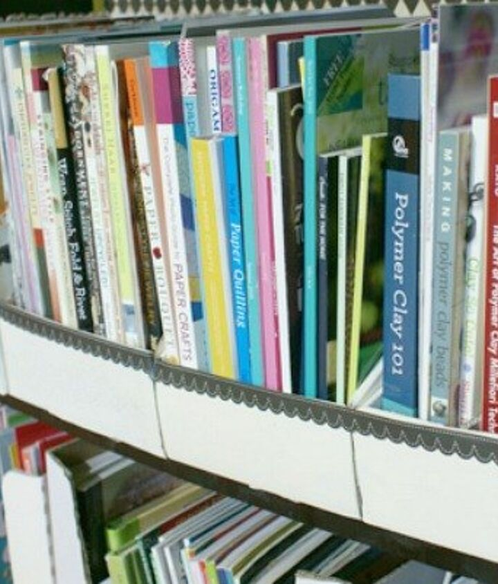 s 23 insanely clever ways to eliminate clutter, organizing, storage ideas, Cut Cardboard Boxes into Book Organizers