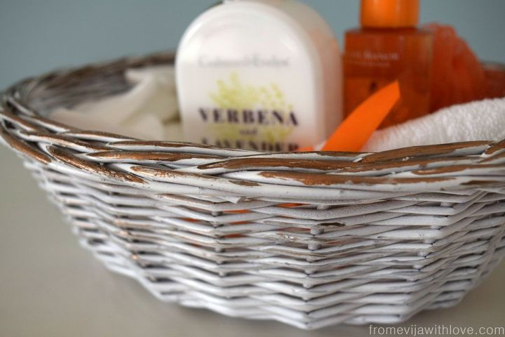giving an old basket a new look, crafts, how to