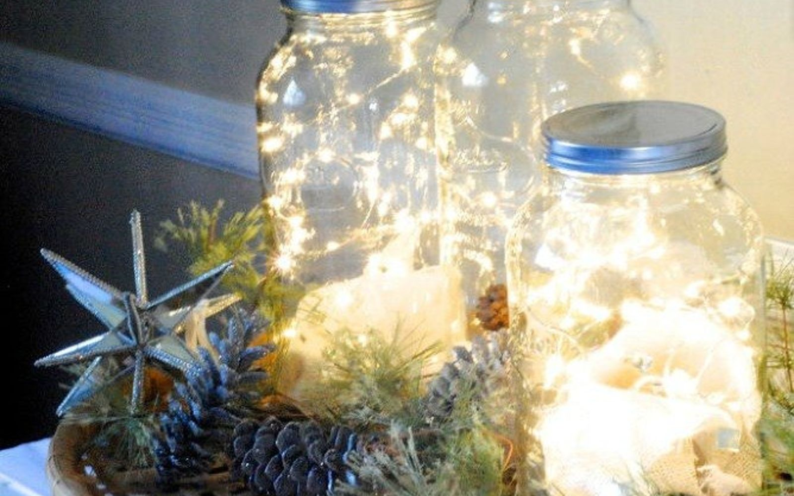 s 14 string light ideas that are cozier than your bed, bedroom ideas, lighting, Shimmering Fairy Light Jars