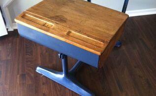 old school desk makeover, painted furniture