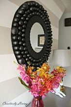 giant bubble mirror tutorial you ll never guess what it s made from, crafts, repurposing upcycling, wall decor