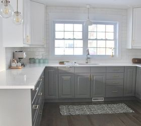 Superieur A Gray And White Ikea Kitchen Makeover, Home Improvement, Kitchen Design,  Painting