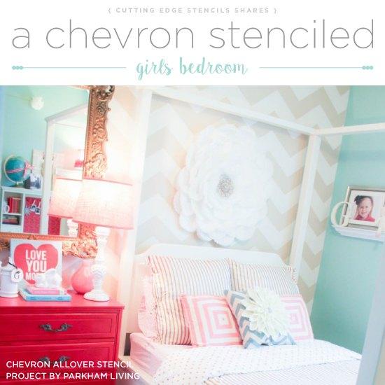 A Chevron Stenciled Girls Bedroom | Hometalk